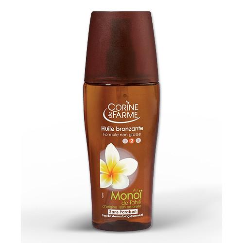 Niet-vette Zonnebrandolie met Monoï van Tahiti - 150 ml