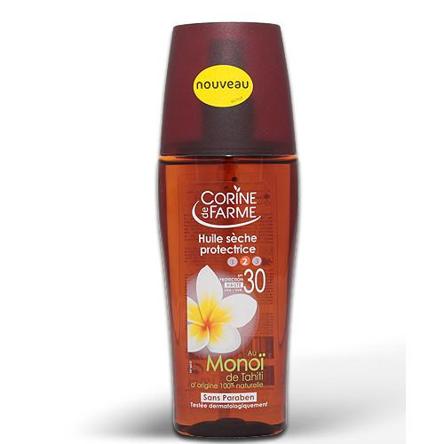 Beschermende Droge Olie Spray met Monoï  van Tahiti 150ml SPF 30
