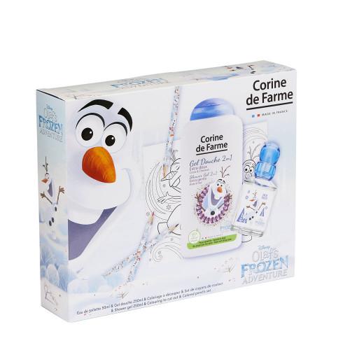 Corine de Farme - Disney Olaf Frozen Adventure  - Coffret Eau de toilette 50ml + Gel douche 250ml + set de crayons de couleur - Olaf